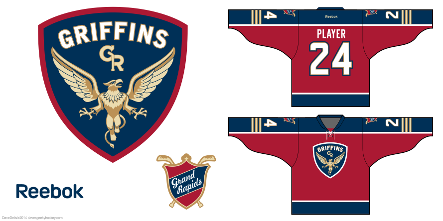Grand Rapids Griffins design by Dave Delisle