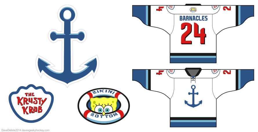 spongebob squarepants hockey jersey by Dave Delisle