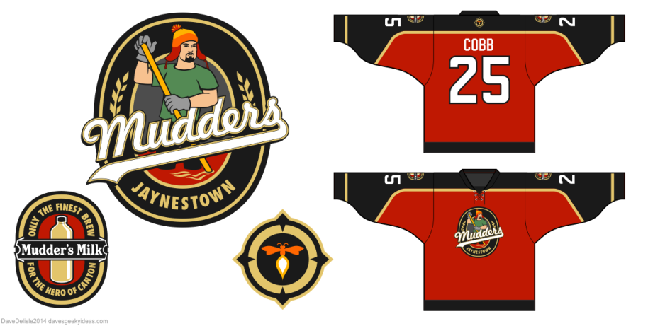 Jaynestown Mudders Canton Hero hockey jersey