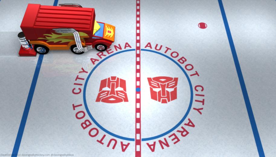 Rodimus Prime Zamboni Transformers NHL
