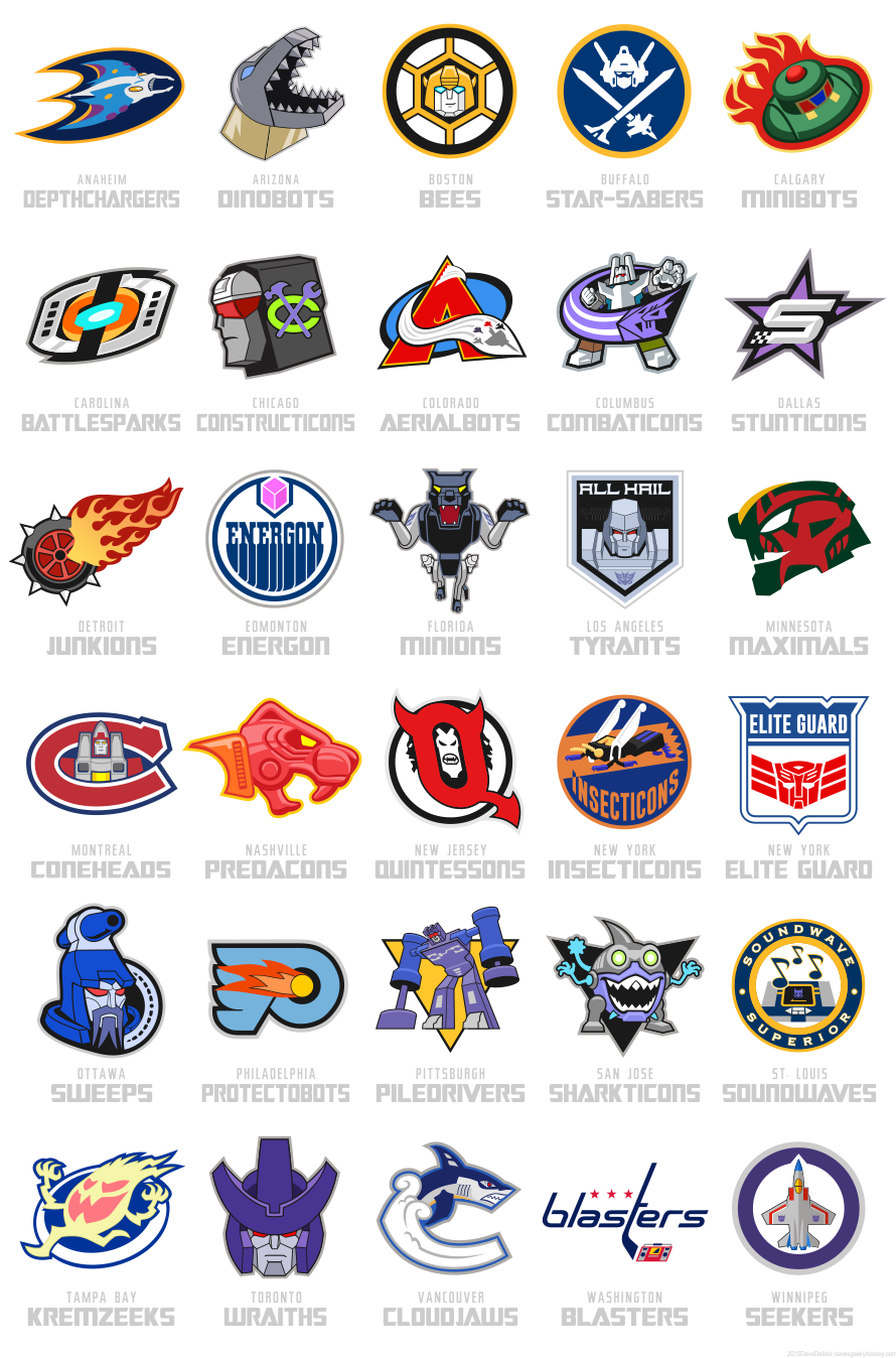Transformers Hockey League NHL by Dave Delisle