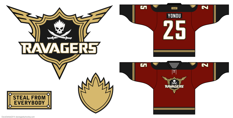 Ravagers GOTG hockey jersey design by Dave Delisle