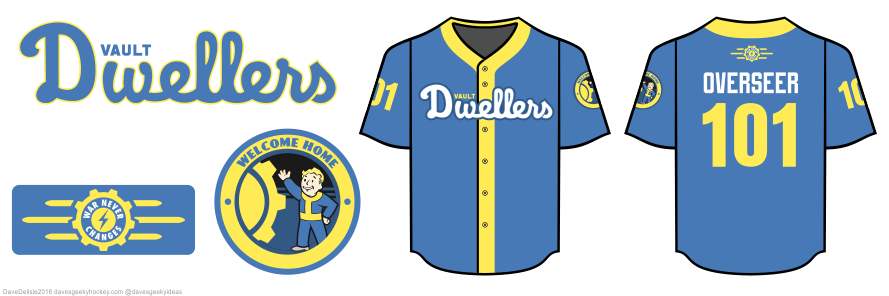 Fallout baseball jersey by Dave Delisle