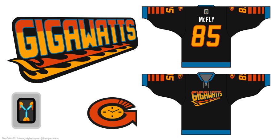 BTTF hockey jersey design by Dave Delisle