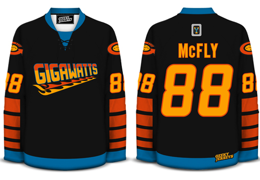 Gigawatts BTTF Hockey Jersey by davesgeekyhockey