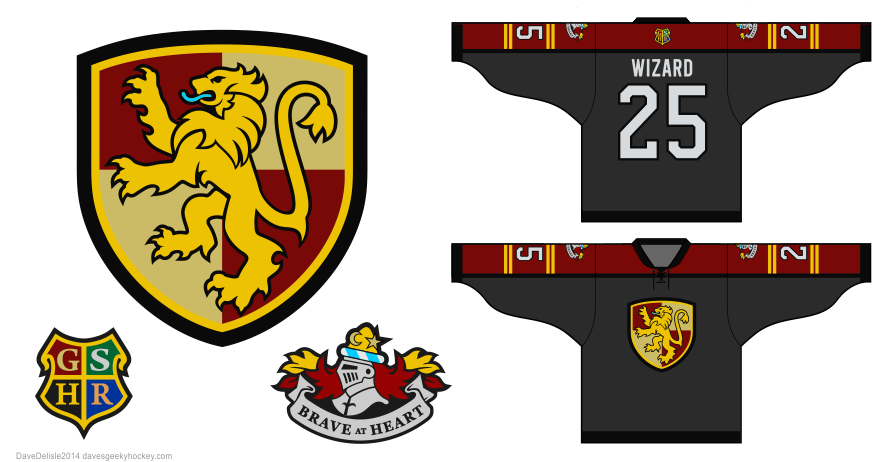 Harry Potter hockey jersey design by Dave Delisle