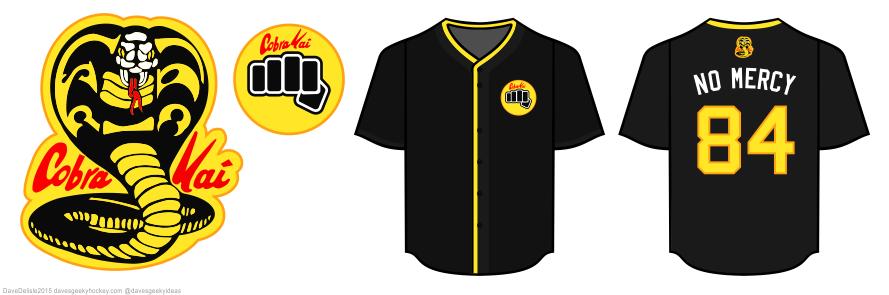 cobra kai baseball jersey by Dave Delisle