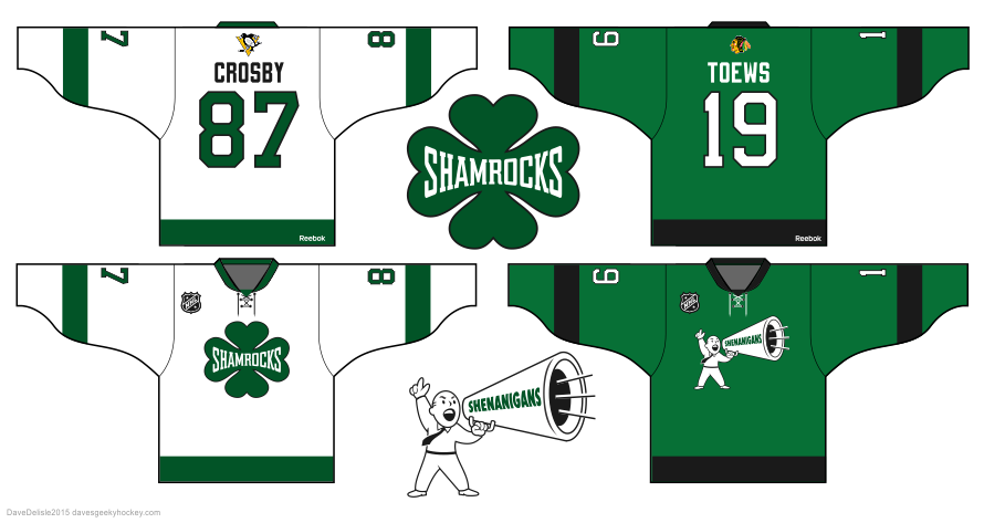 NHL all-star jersey design by Dave Delisle