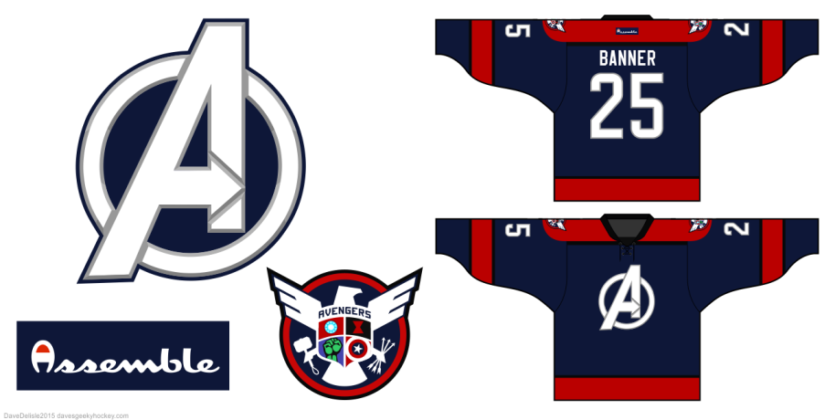 Avengers hockey jersey design by davesgeekyideas