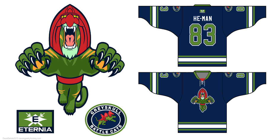 Battle Cats MOTU hockey jersey by Dave Delisle