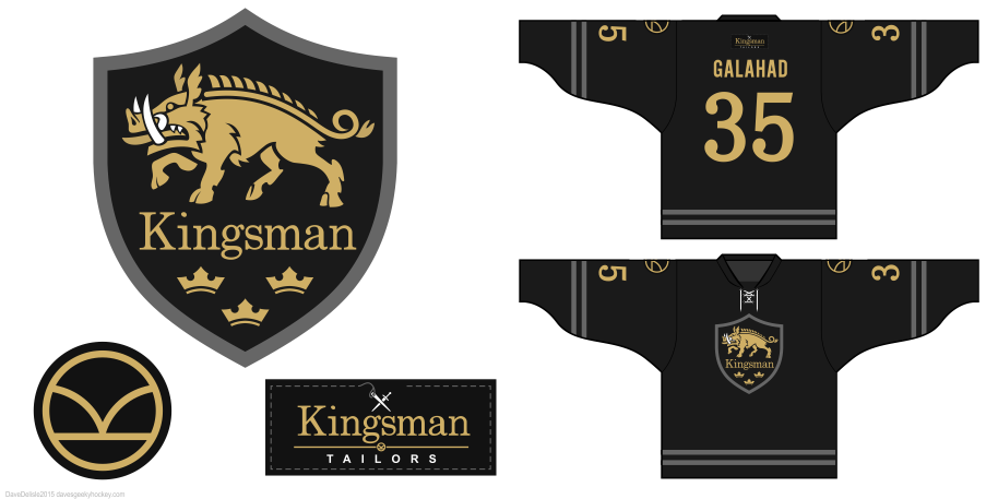 Kingsman hockey jersey by Dave Delisle