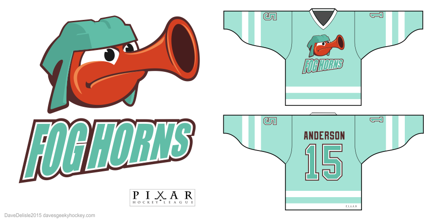 Inside Out hockey jersey design by Pixar