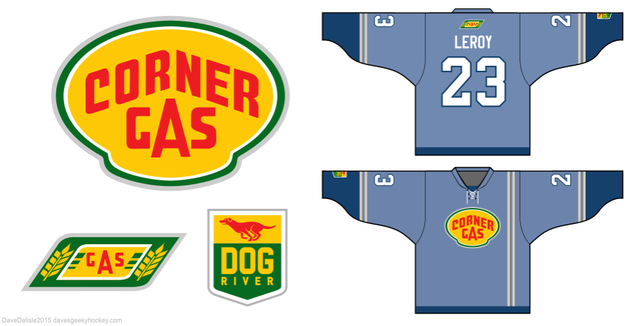 Corner Gas hockey jersey design
