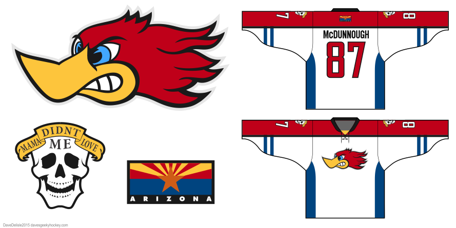 Raising Arizona hockey jersey design by Dave Delisle