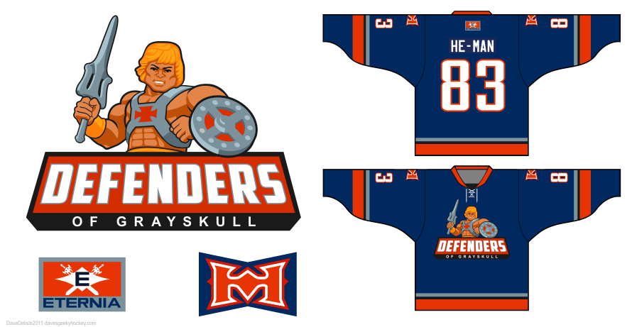 He-Man/Skeletor hockey jerseys by davesgeekyideas