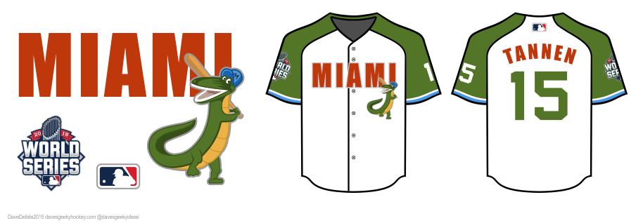 BTTF2 Miami Baseball Jersey Design by davesgeekideas