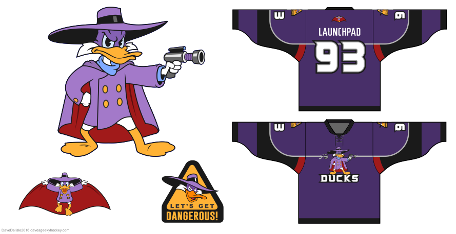 Darkwing Duck hockey jersey by Dave Delisle