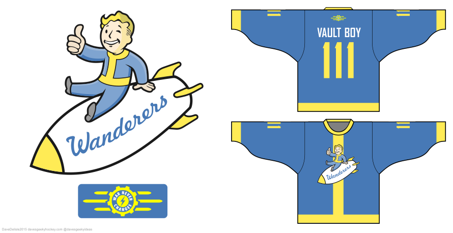 Fallout hockey jersey by Dave Delisle