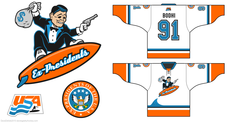 Ex-Presidents Point Break jersey by Dave's Geeky Hockey