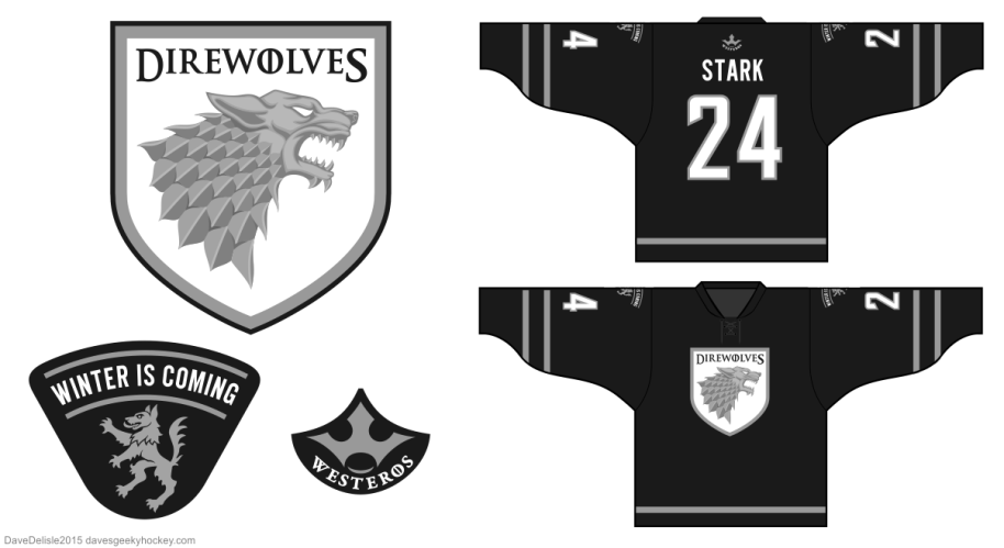 House Stark Hockey Jersey by davesgeekyideas