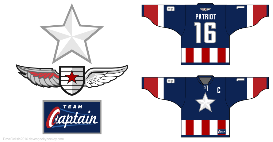 Captain 3 hockey jersey by Dave Delisle