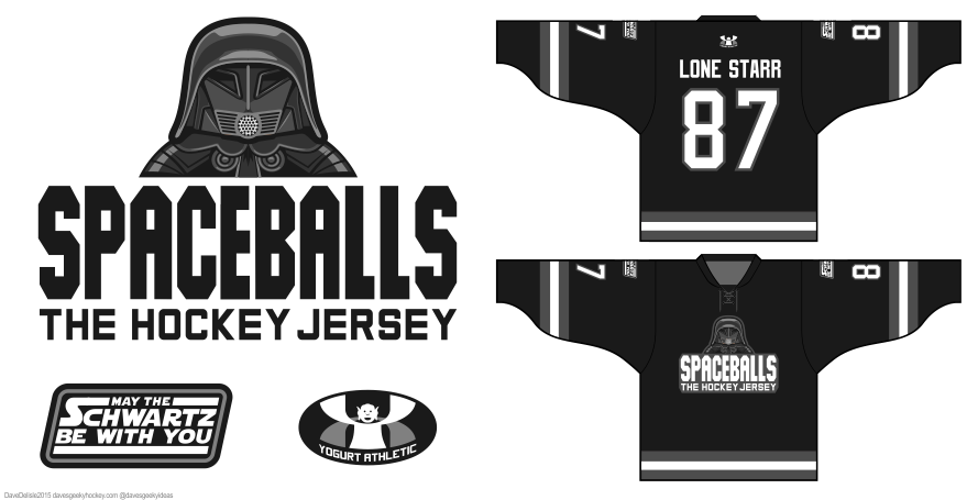 Spaceballs hockey jersey by Dave Delisle