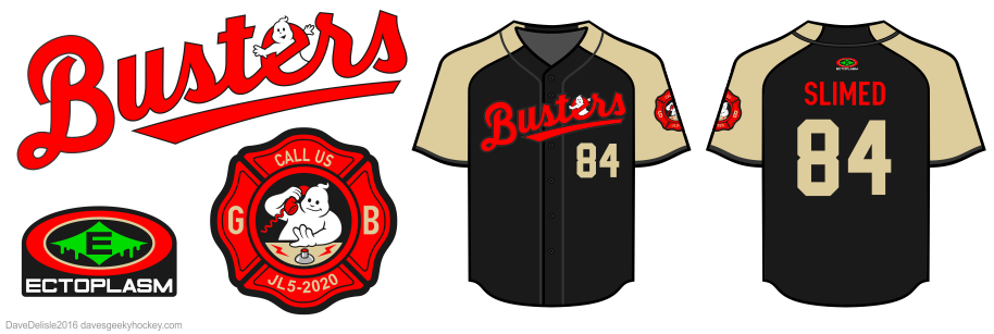 Busters baseball jersey by Dave Delisle