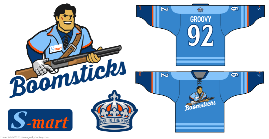 Boomsticks 2.0 hockey jersey by Dave Delisle