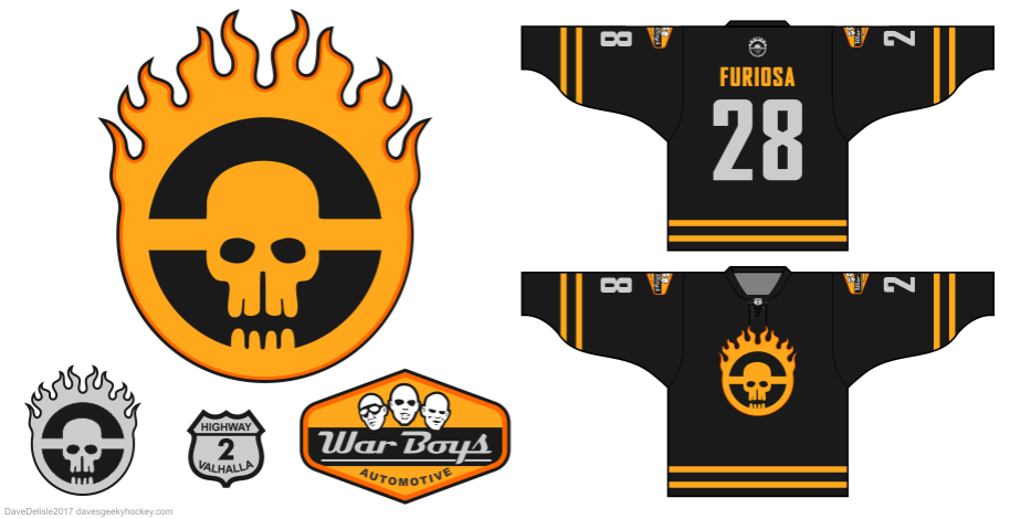 Fury Road hockey jersey by Dave Delisle