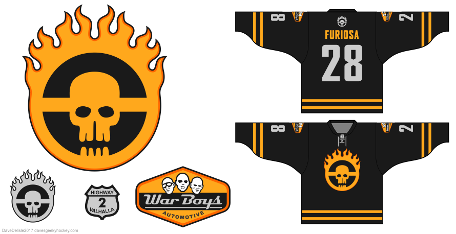 War Boys Hockey Jersey design by Dave Delisle