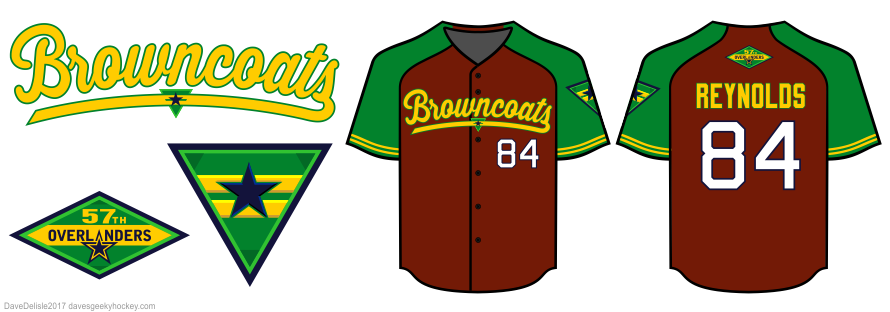 Browncoats baseball jersey design by Dave Delisle
