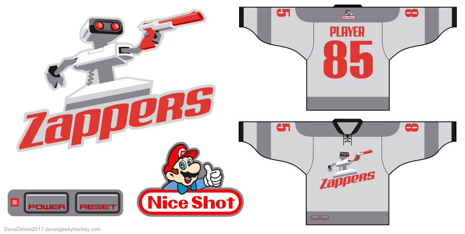 NES hockey jersey by Dave Delisle