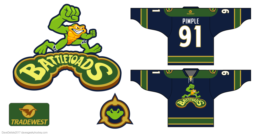 battletoads hockey jersey design by Dave Delisle davesgeekyhockey