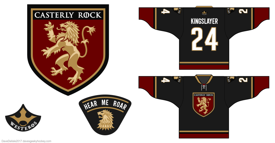 Lions 4 hockey jersey by Dave Delisle
