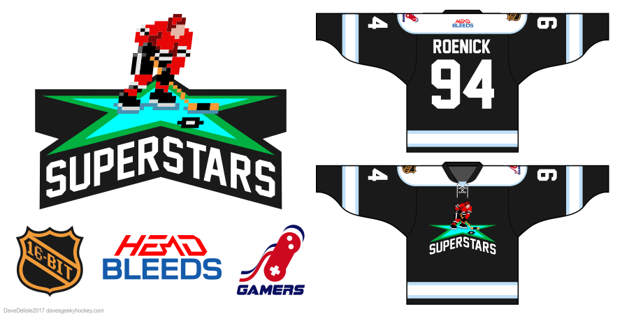 NHL 94 jersey design by Dave Delisle