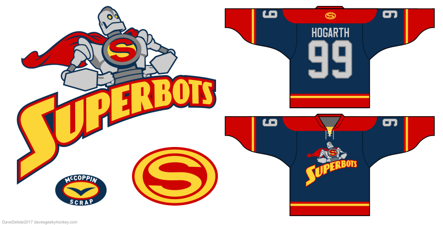 Iron Giant hockey jersey design by Dave Delisle
