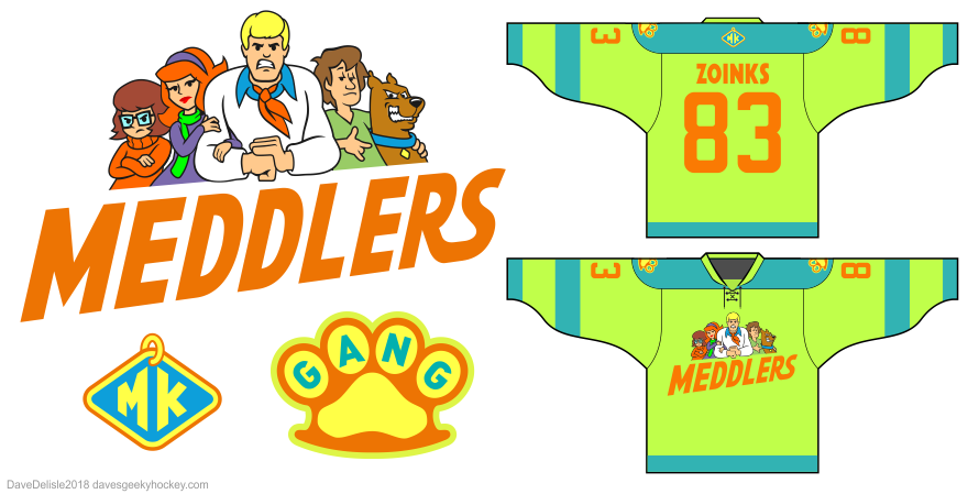 Meddlers hockey jersey by Dave Delisle