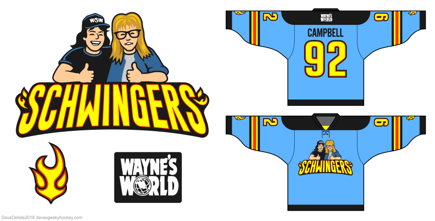 Wayne's World Hockey Jersey design by Dave Delisle