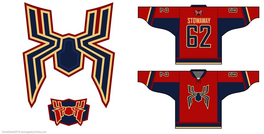Iron Spider hockey jersey design by Dave Delisle