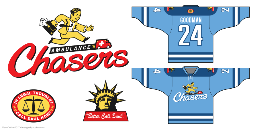 better call saul ambulance chasers hockey jersey 2017 dave delisle davesgeekyhockey