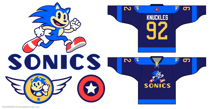 sonic the hedgehog vintage retro by Dave Delisle davesgeekyhockey