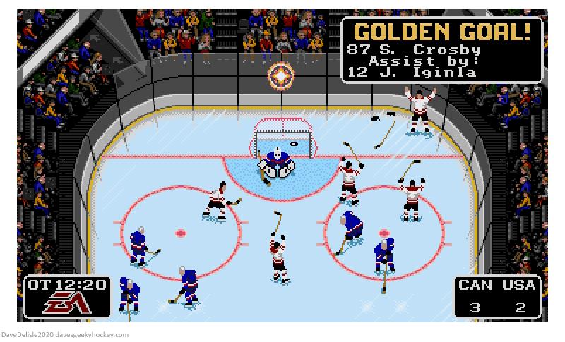 NHL 94 Golden Goal Sidney Crosby Iggy 2010 Winter Olympics dave delisle davesgeekyhockey