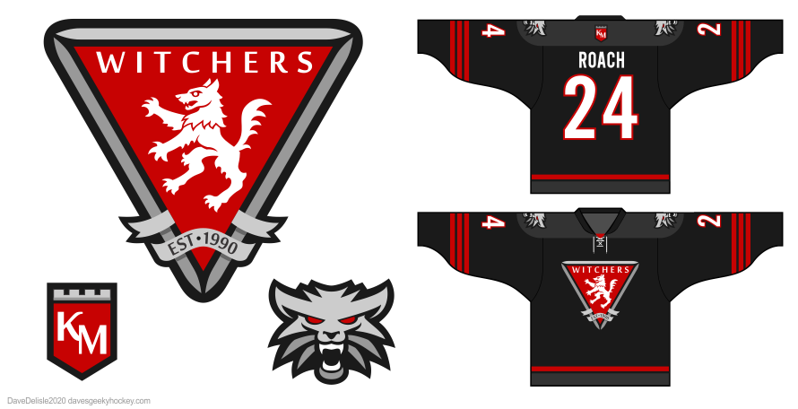Witcher Kaer Morhen hockey jersey design 2020 dave delisle davesgeekyhockey